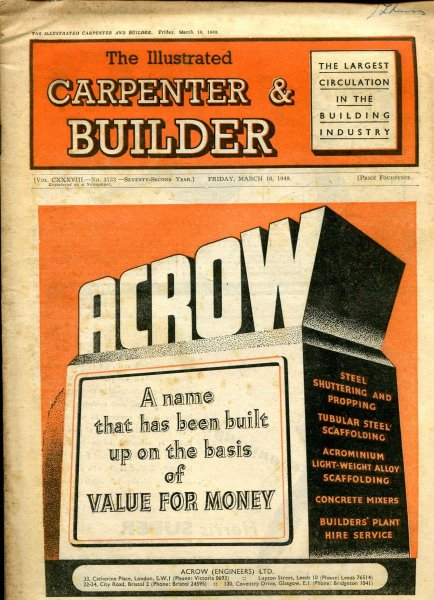 Image for The Illustrated Carpenter & Builder March 1949 (two issues)