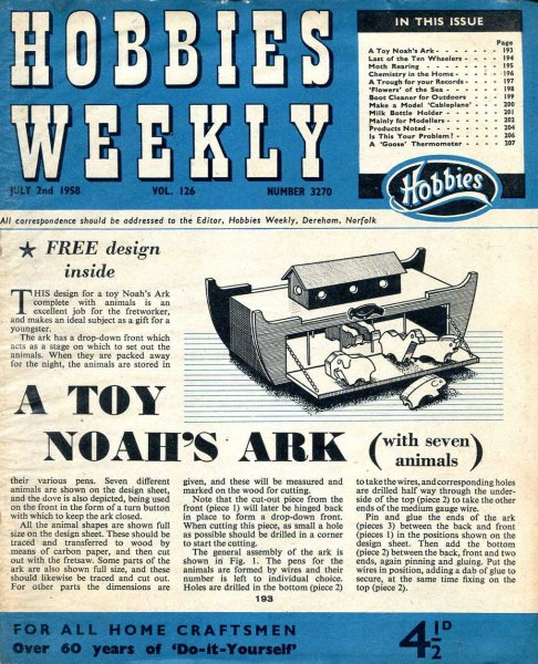 Image for Hobbies Weekly July 1958 (five  issues)