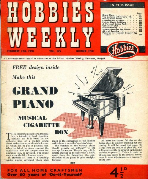 Image for Hobbies Weekly February 1958 (three issues)
