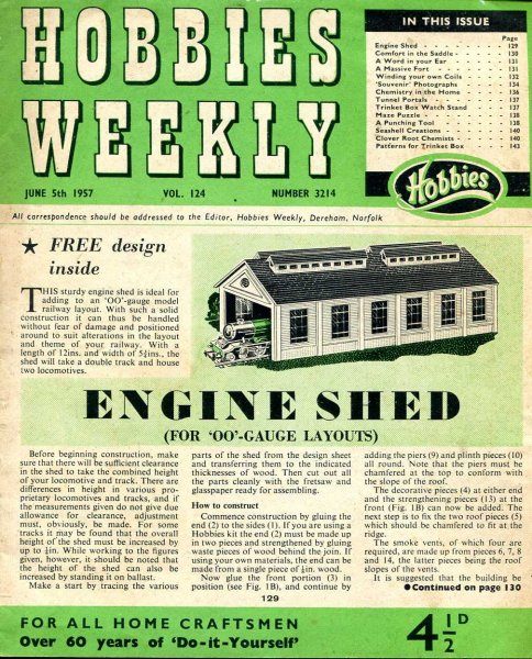Image for Hobbies Weekly June 1957 (four issues)