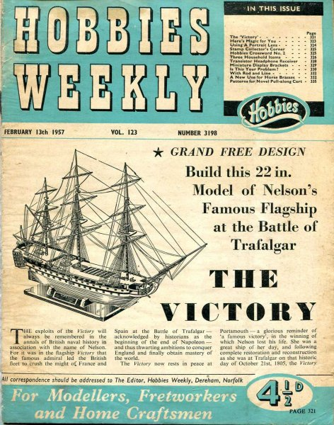 Image for Hobbies Weekly February 1957 (three issues)