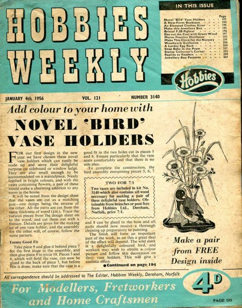 Image for Hobbies Weekly January 1956 (four issues)