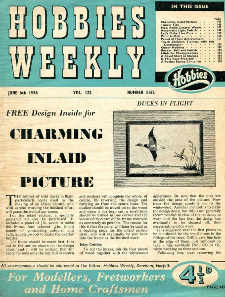 Image for Hobbies Weekly June 1956 (four issues)