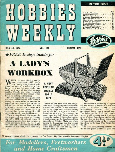 Image for Hobbies Weekly July 1956 (four issues)