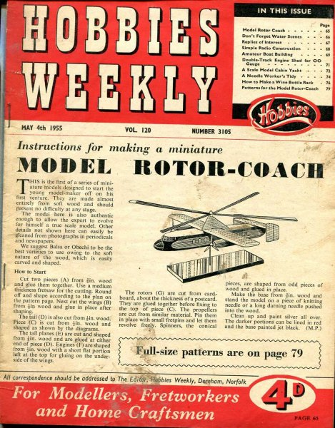 Image for Hobbies Weekly May 1955 (four issues)