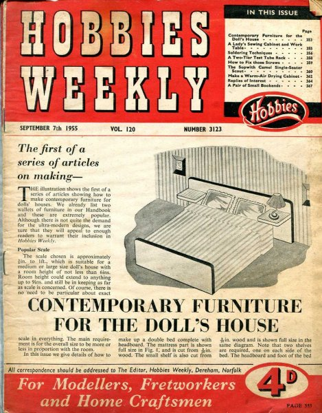 Image for Hobbies Weekly September 1955 (four issues)