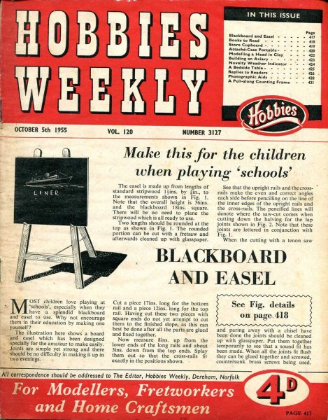 Image for Hobbies Weekly October 1955 (four issues)