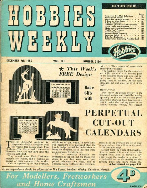 Image for Hobbies Weekly December 1955 (four issues)
