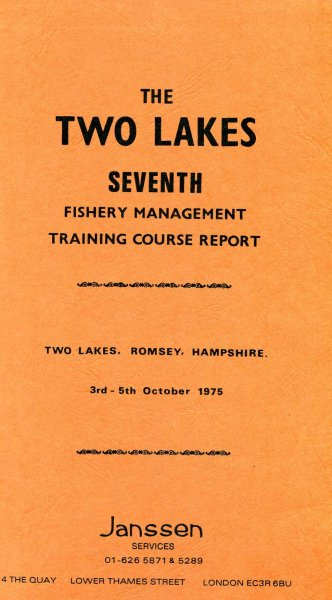 Image for The Two Lakes Seventh Fishery Management Course Report bound with The Eighth & Ninth Reports