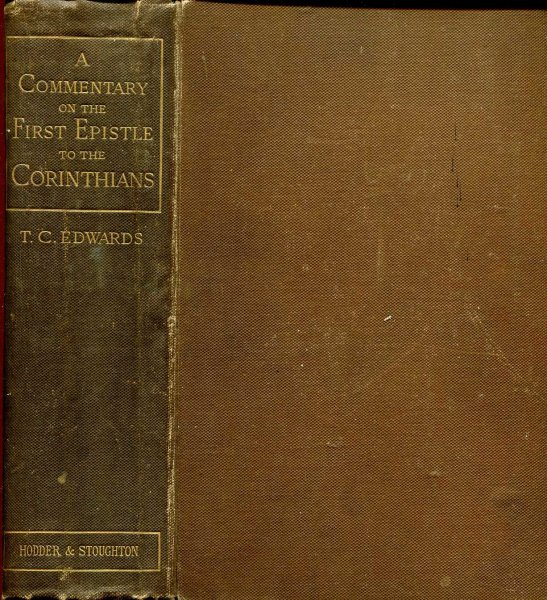 Image for A Commentary on the First Epistle to the Corinthians