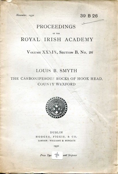 Image for Proceedings of the Royal Irish Academy volume XXXIX, Section B, No 26 - The Carbon Rocks of Hook Head, County Wexford