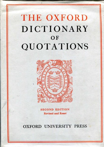 Image for The Oxford Dictionary of Quotations