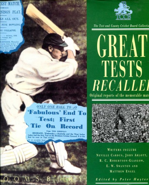 Image for Great Tests Recalled - original reports of the memorbale matches