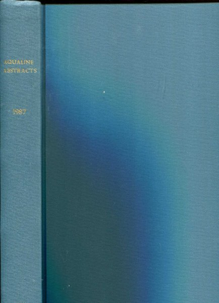 Image for Aqualine Abstracts volume 3 - No 1 - 26, 1987