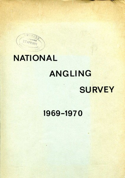 Image for National Angling Survey 1969-1970