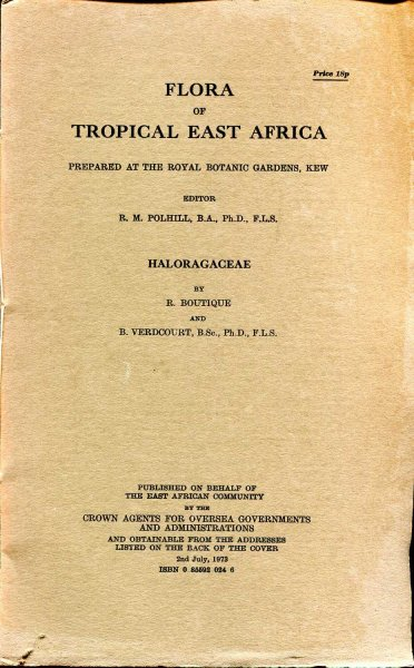 Image for Flora of Tropical East Africa : Haloragaceae