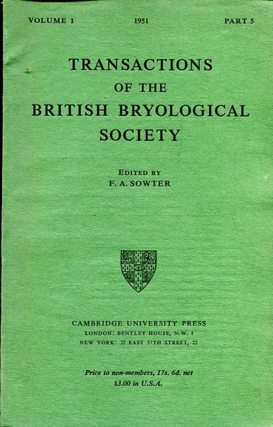Image for Transactions of the British Bryological Society 1950 volume 1, Part 5