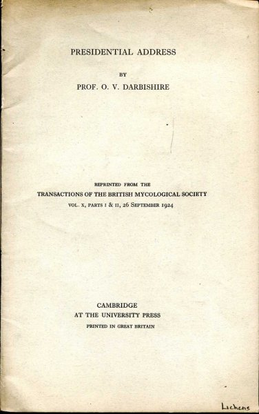Image for Presidential Address reprinted from the Transactions of the British Mycological Society