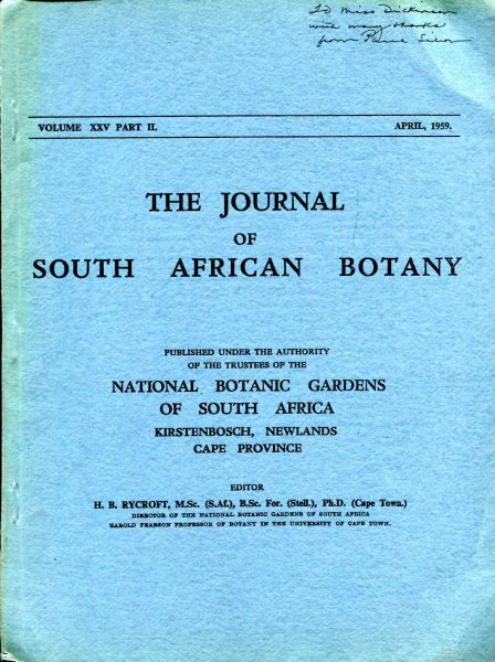 Image for The genus Codium (Chlorophyta) in South Africa [reprinted from The Journal of South African Botany]