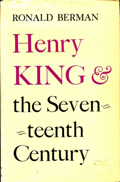 Image for Henry King & The Seventeenth Century