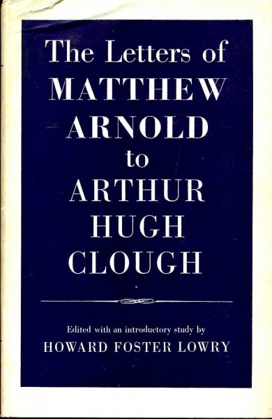 Image for The Letters of Matthew Arnold to Arthur Hugh Clough