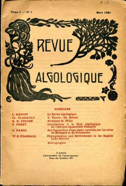 Image for Revue Algologique No 1, Mars 1924