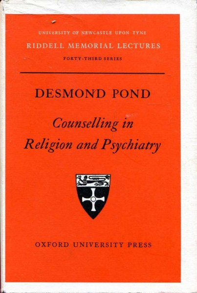 Image for Counselling in Religion and Psychiatry (Riddell Memorial Lecture)