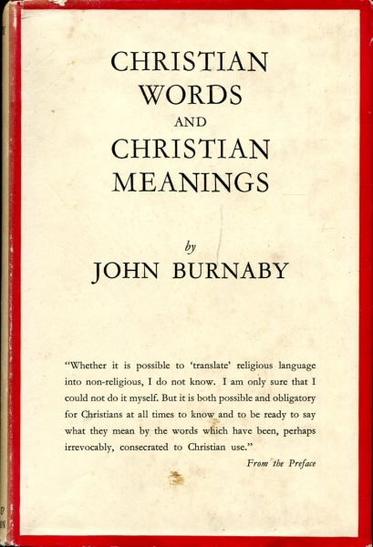 Image for Christian Words and Christian Meanings