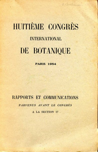 Image for Huitieme Congres International De Botanique, Paris 1954 : Rapports et Communications Parvenus avant Le Congres A La Section 17
