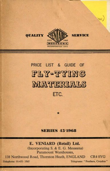 Image for Price List & Guide of Fly-Tying Materials etc, Series 45/1968