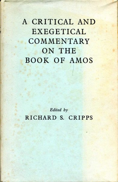 Image for A Critical and Exegetical Commentary on the Book of Amos