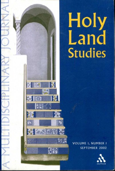 Image for Holy Land Studies volume 1, Number 1, September 2002