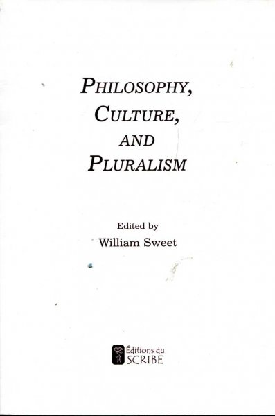 Image for Philosophy, Culture, and Pluralism