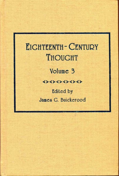 Image for Eighteenth-Century Thought: volume 3