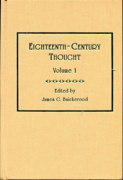 Image for Eighteenth-Century Thought: Volume 1