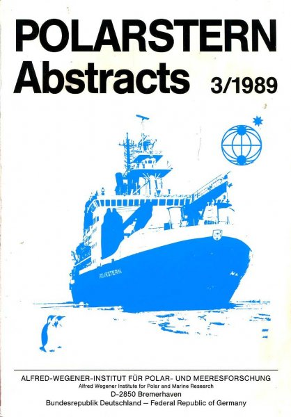 Image for Polarstern Abstracts 3/1989