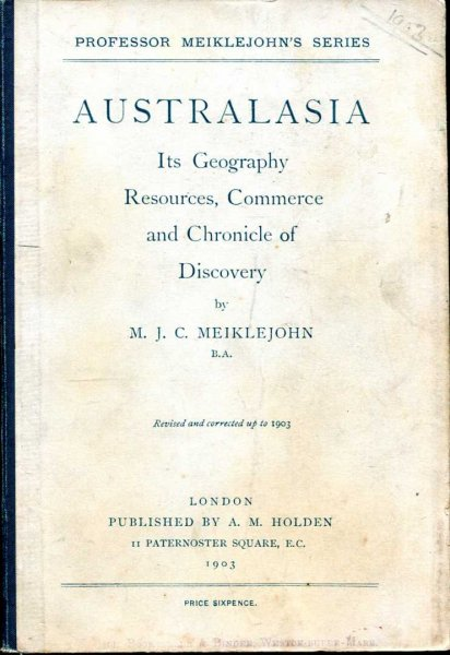 Image for Australasia, its Geography, Resources, Commerce and Chronicle of Discovery