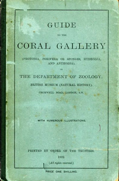 Image for Guide to the Coral Gallery in the Department of Zoology, British Museum (Natural History)