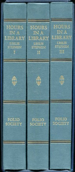 Image for Hours in a Library (three volumes)