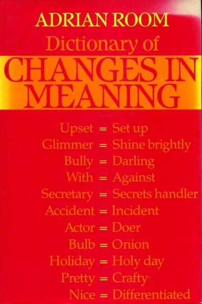 Image for Dictionary of Changes in Meaning