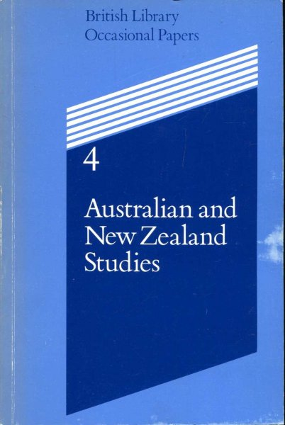 Image for Australian and New Zealand Studies, British Library Occasional Papers 4