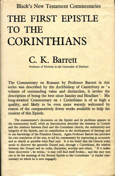 Image for A Commentary on the First Epistle to the Corinthians.