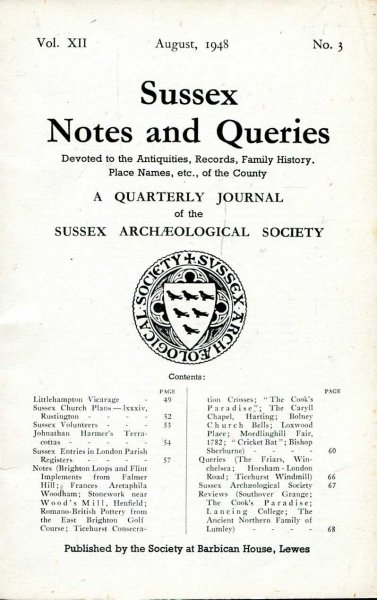 Image for Sussex Notes and Queries A quarterly journal of The Sussex Archaeological Society volume XII No 3 August 1948