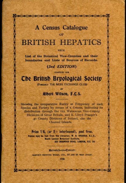 Image for A Census Catalogue of British Hepatics