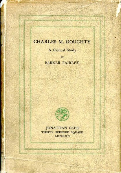 Image for Charles M Doughty - a critical study