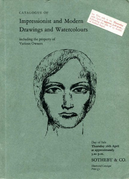 Image for Ctalogue of Impressionist and Modern Drawings and Watercolours 16th April 1970