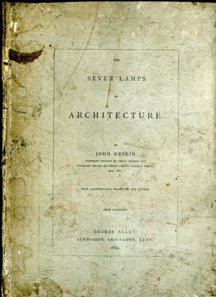 Image for The Seven Lamps of Architecture
