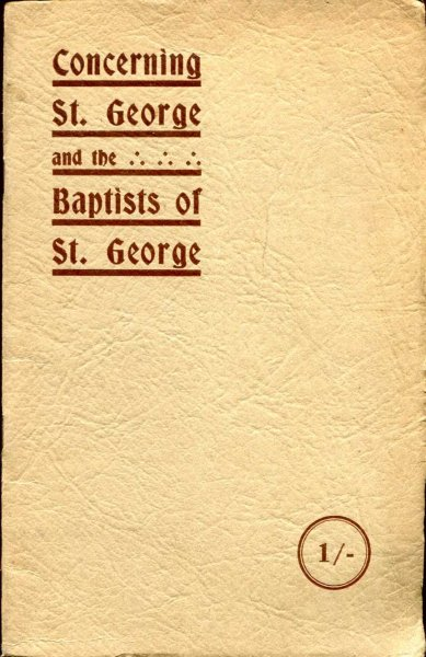Image for Concerning St George and the Baptists of St George, the centenary volume of the St George Baptist Church, Bristol 1830-1930
