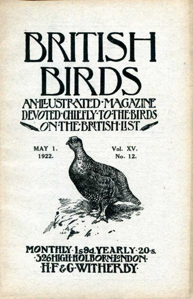 Image for British Birds An Illustrated Magazine devoted chiefly to the birds on the British List, volume XV, No 12, May 1 1922