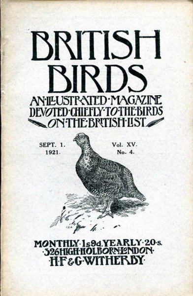 Image for British Birds An Illustrated Magazine devoted chiefly to the birds on the British List, volume XV, No 4, September 1 1921